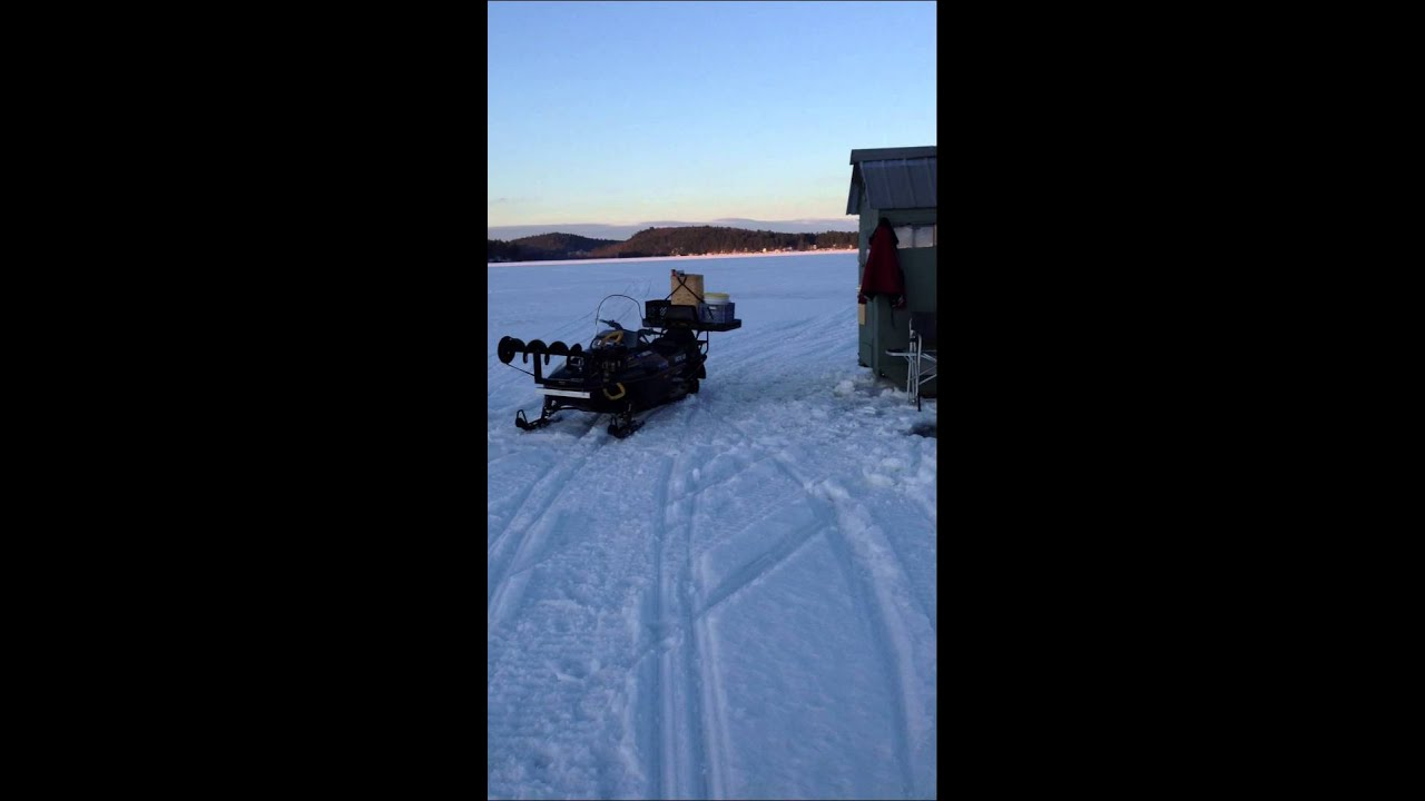 Taylor pond ice fishing auburn maine youtube for Maine out of state fishing license