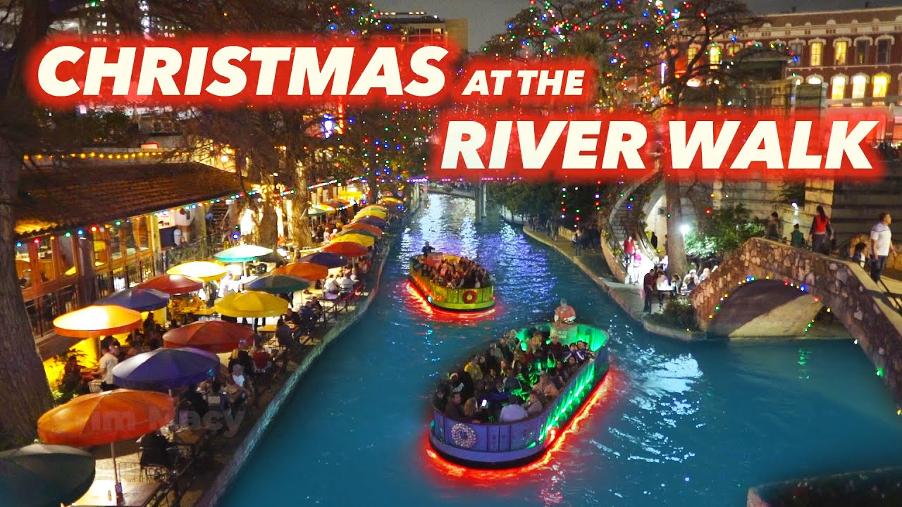San Antonio Riverwalk On Christmas Day 2021 Tips And Tour Of Riverwalk Christmas Lights Youtube