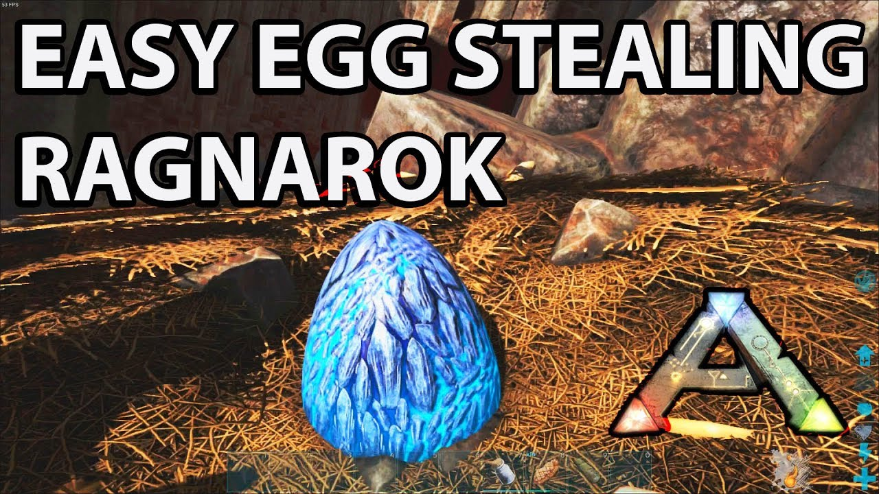 Stealing Wyvern Eggs Solo in Ragnarok the Easy Way: Ark Survival Evolved  How to and Tips