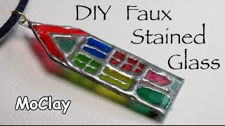 DIY Faux stained glass pendant