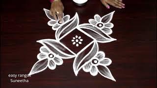 Episode 6....Peacock theme...Basic Small #Rangoli & Kolam designs for Beginners | Muggulu |ముగ్గులు