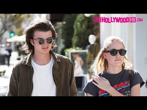 Joe Keery From 'Stranger Things' Goes Shopping With His Girlfriend Maika Monroe In Beverly Hills