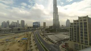 Burj Khalifa and Downtown Dubai - Timelapse