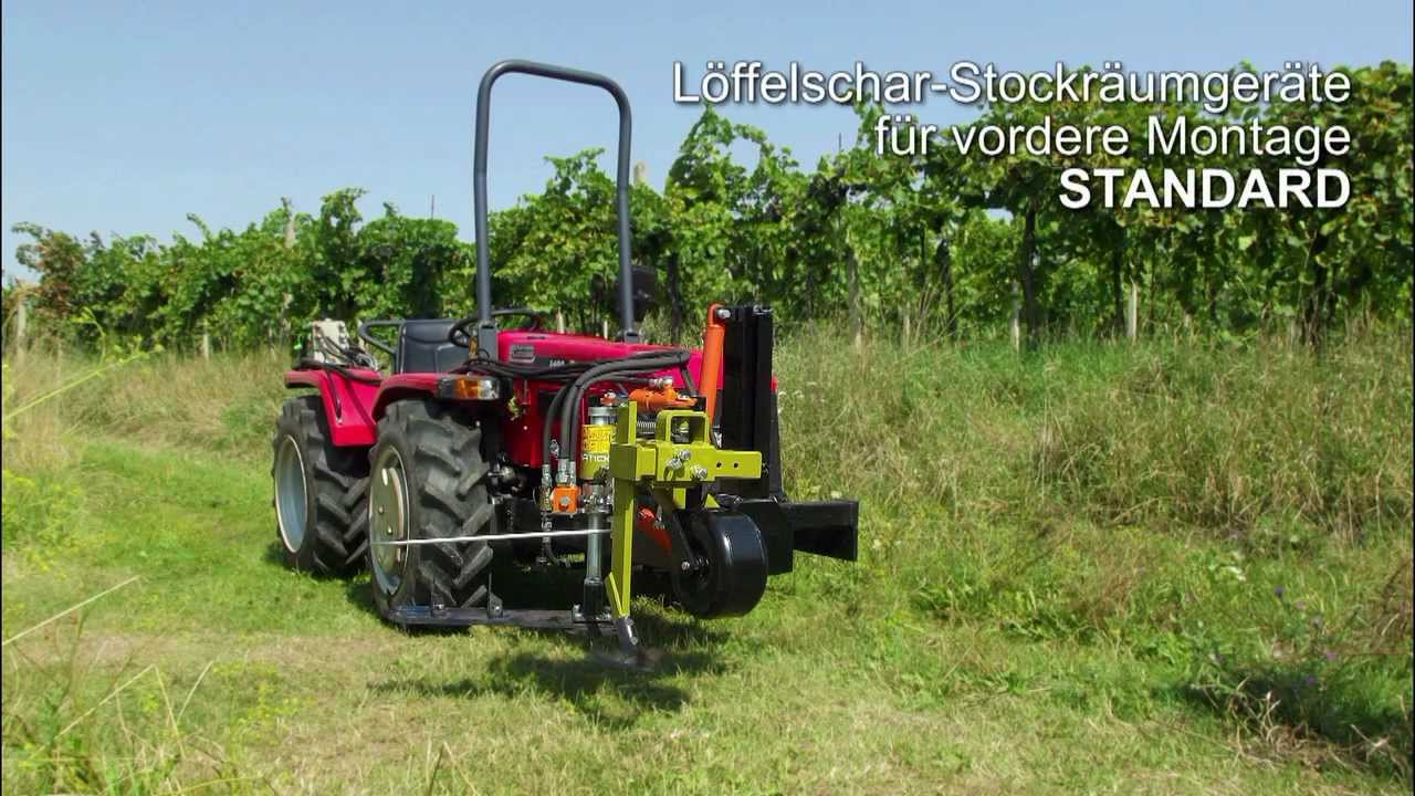 Vineyard Orchard Weed Control Machine Front Mounted