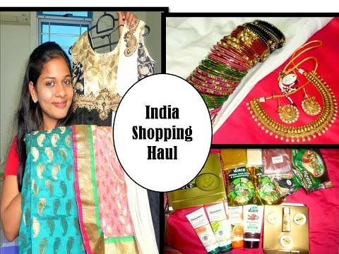 India shopping Haul | gold facial kit, saree, jewels, bangles, beauty care products & lot more