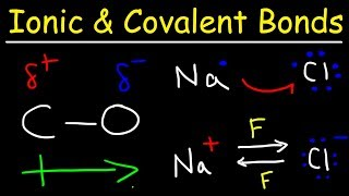 Ionic Bonds, Polar Covalent Bonds, and Nonpolar Covalent Bonds