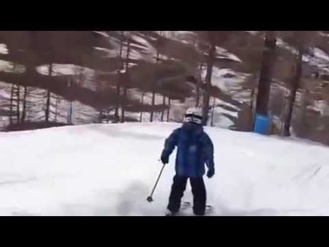 Pragelato home run skiing by an 8 year old