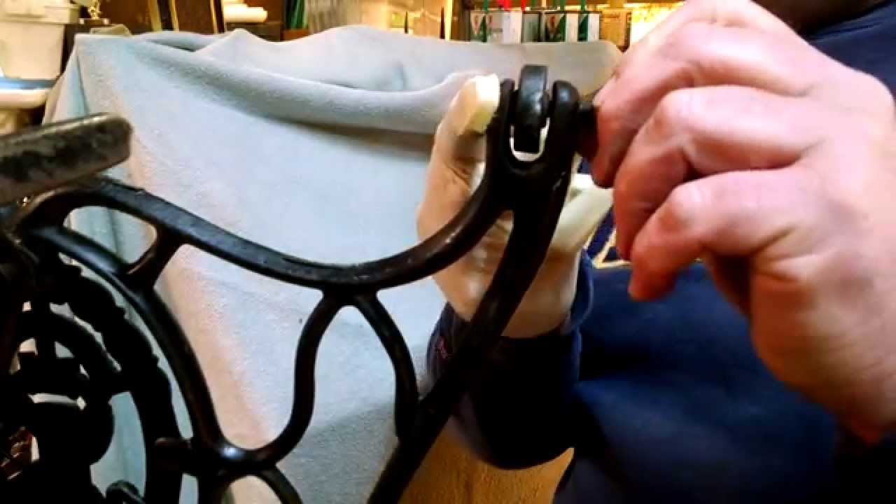 How To Install An Antique Cast Iron Singer White Treadle