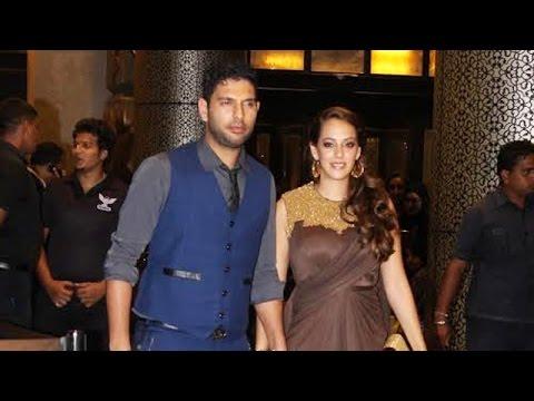 Yuvraj Singh With Girlfriend Hazel Keech @ Preity Zinta Wedding Reception