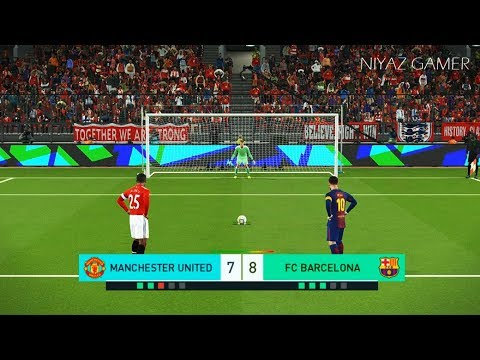 MANCHESTER UNITED vs FC BARCELONA | Penalty Shootout | PES 2018 Gameplay PC