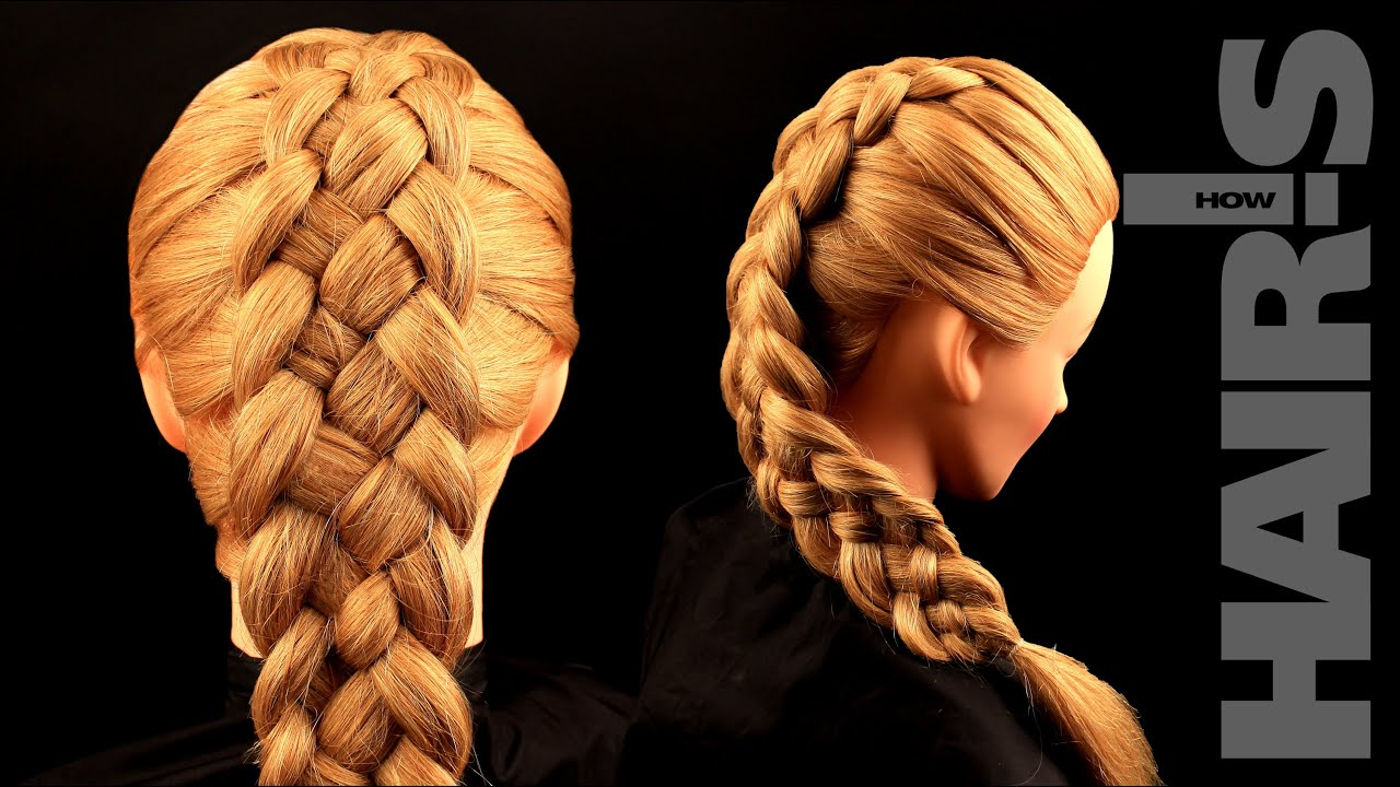 How to do a five-strand French braid hairstyle - video tutorial ...