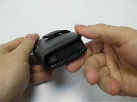 PDair Leather Case for Motorola MOTOZINE ZN5 - Horizontal Pouch Type (Black)