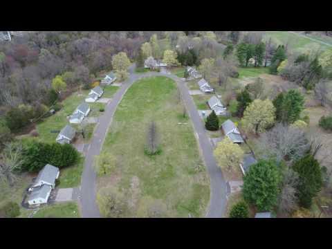 Phantom 4 Pro, 'Abandoned neighborhood' Connecticut, aerial view.