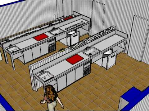 Zonas preparaci n cocina hotel rural leo monesterio for Planos cocinas de hoteles