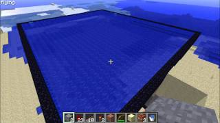 Minecraft - Underwater Vertical Piston-Compressed TNT Cannon VS Some Boats
