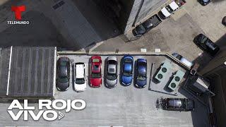 Cae un auto con varias personas desde el quinto piso de un estacionamiento en Colombia