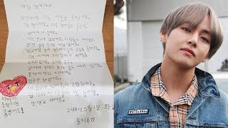 A Boy Wrote Letter to Taehyung, The Way He Replied Him Will Weaken Your Heart