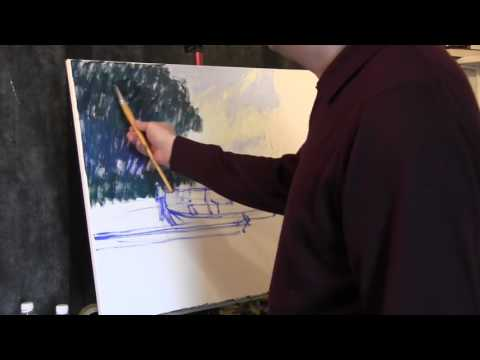 Claude Monet's technique. Part one. Artem Puchkov Painter.