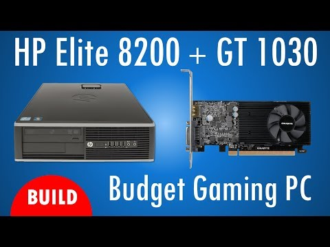 HP Elite 8200 Budget Gaming with GeForce GT 1030