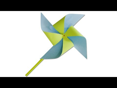 How to make a paper windmill - DIY paper crafts