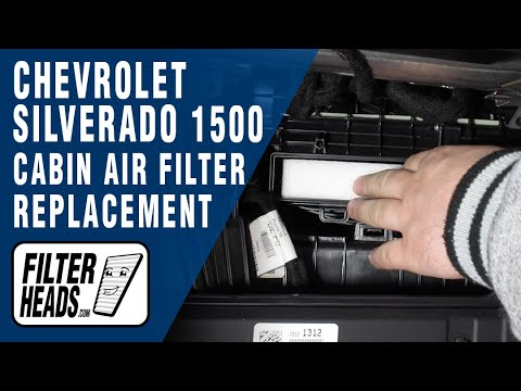 How to Replace Cabin Air Filter 2015 Chevrolet Silverado 1500
