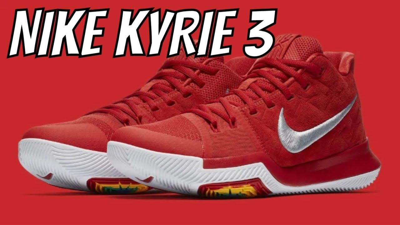 8fa0c89cc85 NIKE KYRIE 3 UNIVERSITY RED SUEDE REVIEW - YouTube