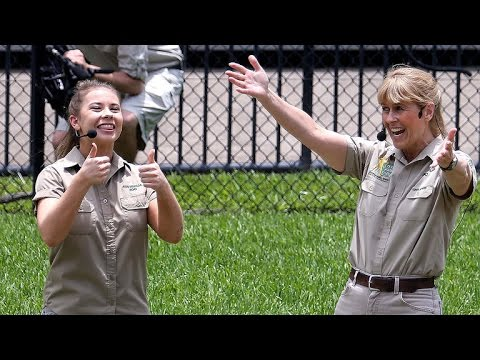 Bindi Irwin Returns Home to Australia to Feed Crocodiles and Celebrate Brother Robert's Birthday!