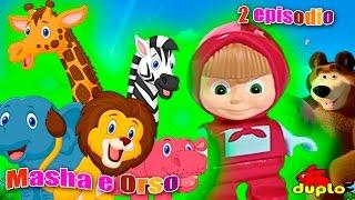 Masha e Orso 2 episodio 2016 italiano, Alla ricerca degli animali zoo, Nuovo cartone con mattoncini