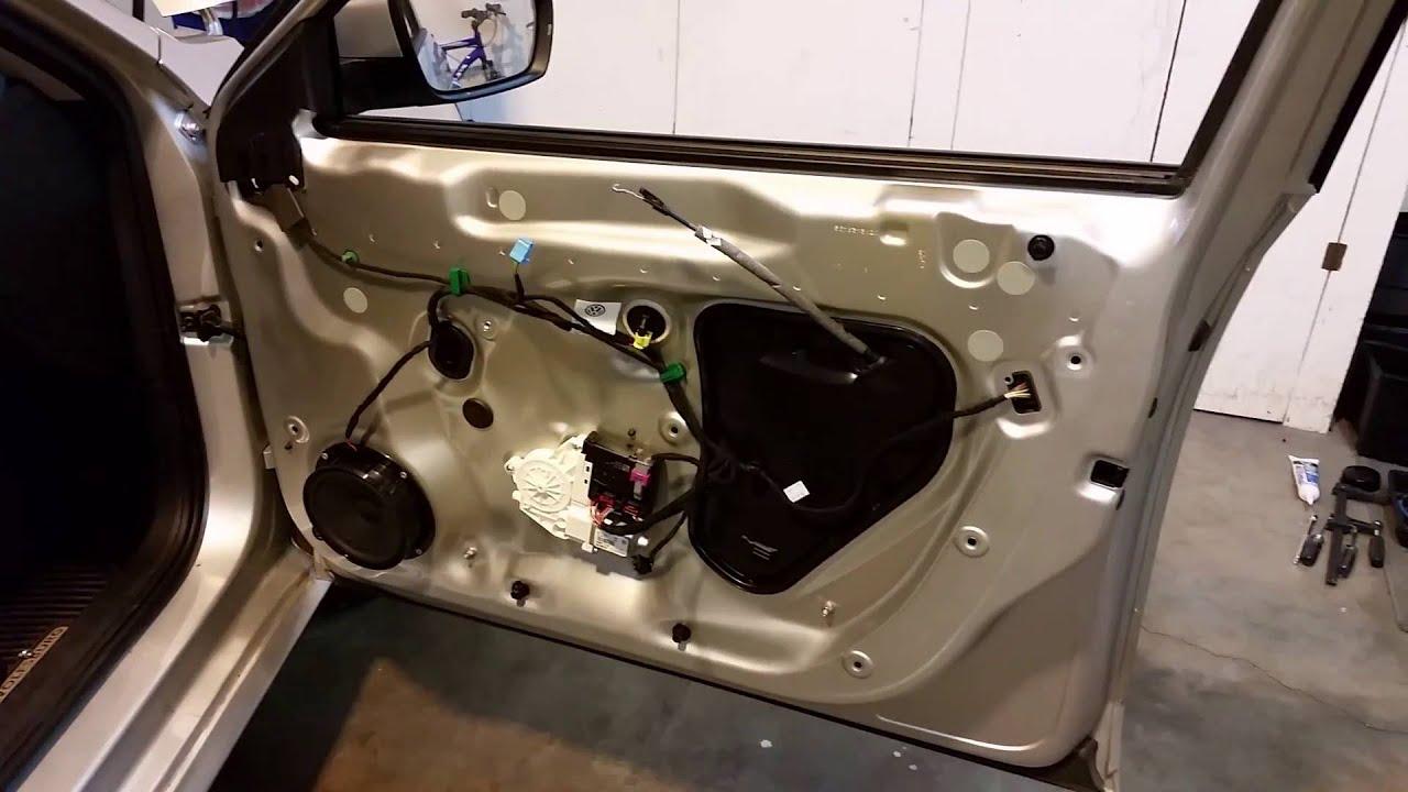 2012-2015 Volkswagen Passat - Metal Door Frame - Door Panel Removed To Upgrade Speaker & 2012-2015 Volkswagen Passat - Metal Door Frame - Door Panel Removed ...