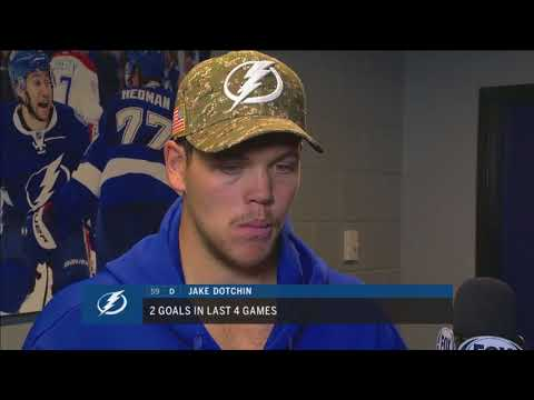 Jake Dotchin -- Tampa Bay Lightning vs. Dallas Stars 11/16/2017