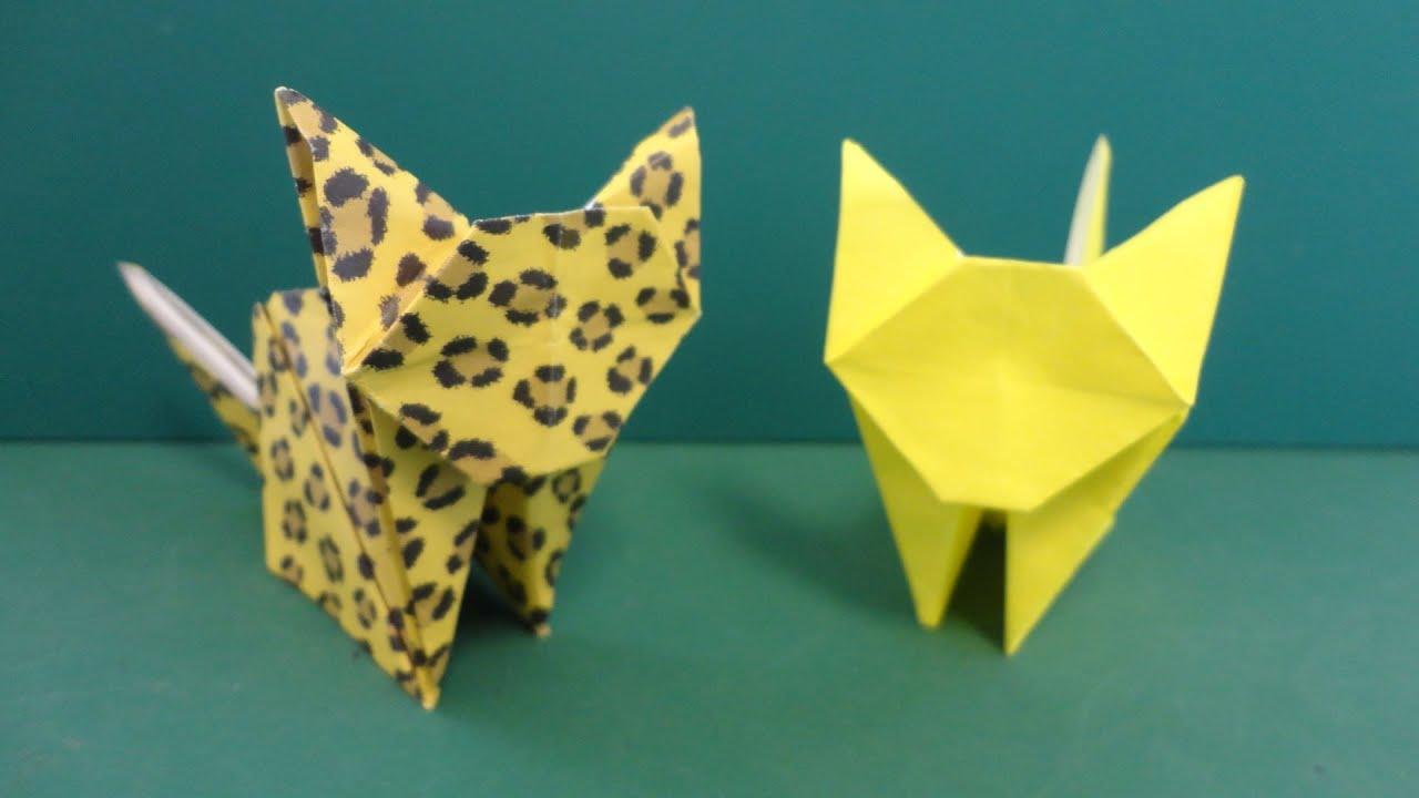 """すべての折り紙 折り紙 ネコ : ... 猫」折り紙""""Cat"""" origami - YouTube"""