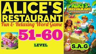 Alice Restaurant Word Game level 51 52 53 54 55 56 57 58 59 60 answer gamelay Full Story Design day screenshot 3