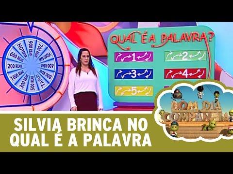 """Bom dia e Cia (26/04/16) - Silvia Abravanel brinca no """"Qual é a Palavra?"""""""