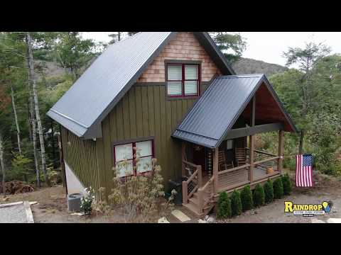 Metal Roof Installation with Raindrop Gutter Guard