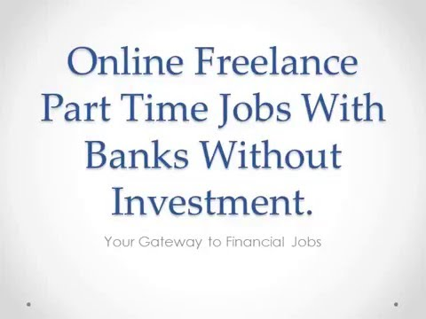Online freelance part time jobs with HDFC Bank Without Any Investment