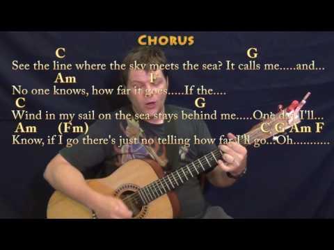 How Far I'll Go (Alessia Cara) Strum Guitar Cover Lesson in C with Chords/Lyrics