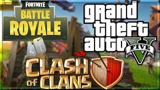SATURDAY LIVE STREAM - Clash of Clans vs Fortnite Battle Royale vs GTA V Discussion!