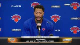 Derrick Rose Ready to Win Big With the New York Knicks