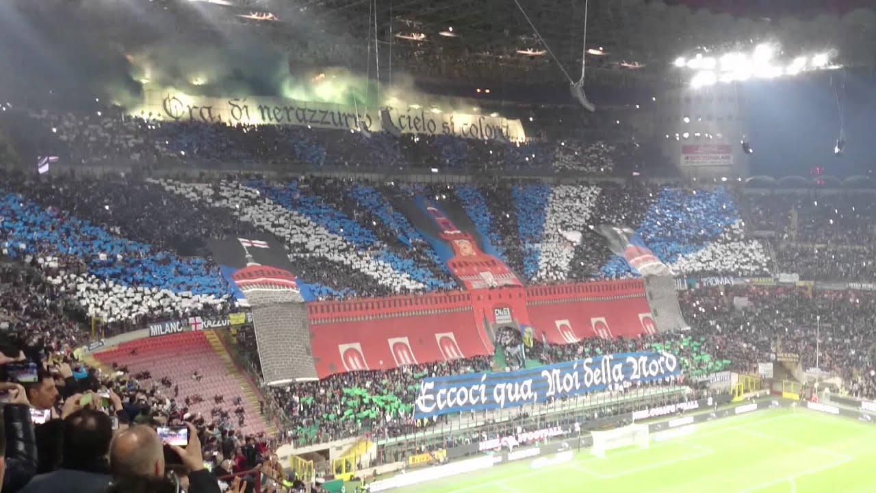 Coreografia Curva Nord Milan - Inter 0 1 15/01/2012 - YouTube