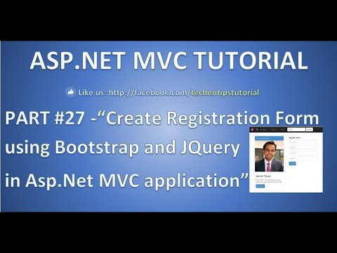 Part 27 Create Registration Form Using Bootstrap And Jquery In Asp