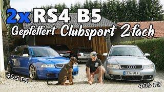 2x RS4 B5 / 2x Gepfeffert Clubsport 2 Fach / Nogaro blau & Avussilber