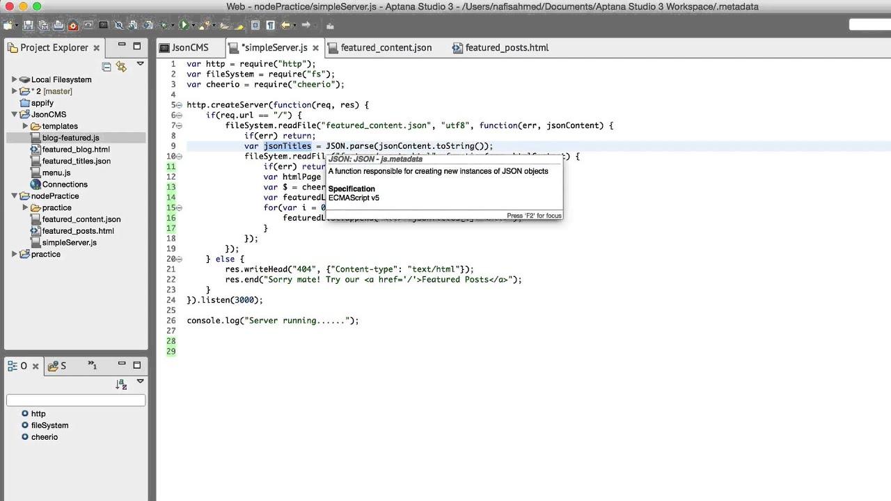 NodeJS | Web Application with JQuery & JSON 16 | Part-26