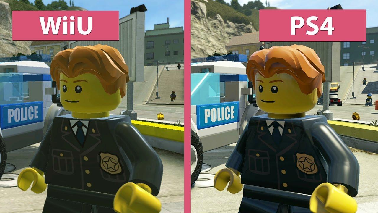 Lego City Undercover Wii U Vs Ps4 Graphics Comparison Youtube