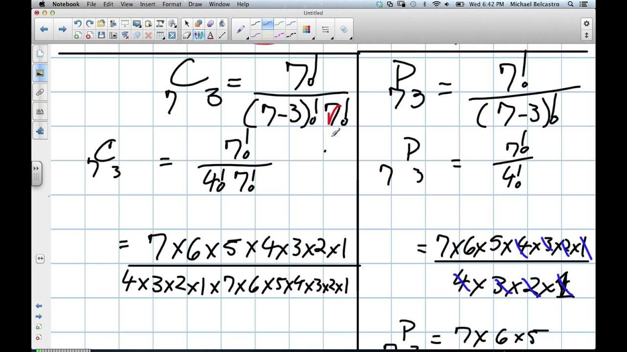 Combinations Vs Permutations Grade 12 Data Management Lesson 5 3 11 14 12