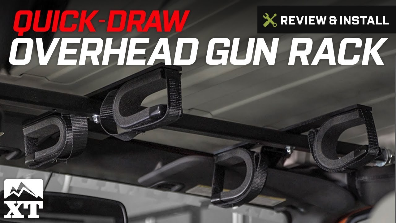 wrangler quick draw overhead gun rack for tactical weapons 1987 2017 yj tj jk review install