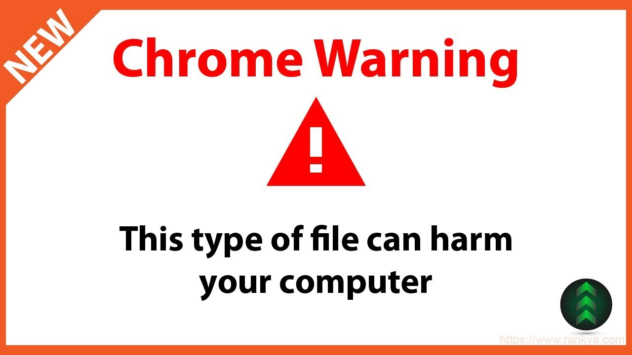 This type of file can harm your computer Chrome Alert Fix - YouTube