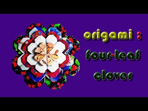 Origami : Four-Leaf Clover by nj.clovercraft