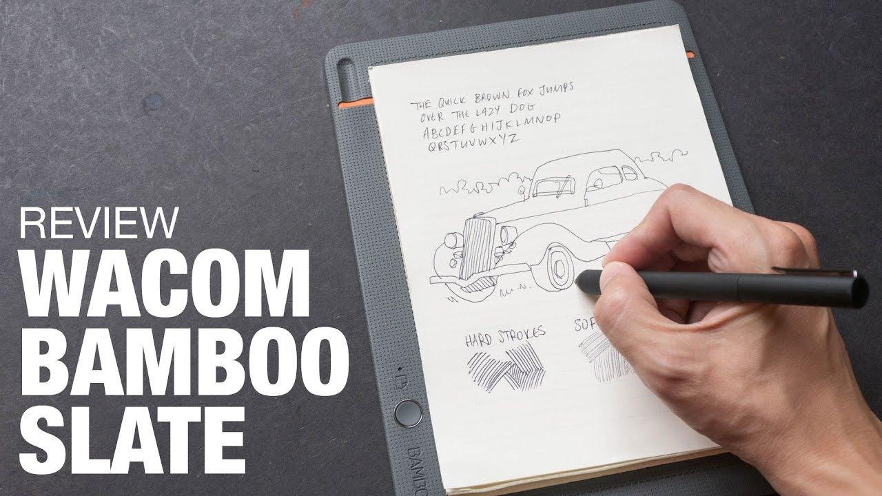 Artist Review Wacom Bamboo Slate  YouTube