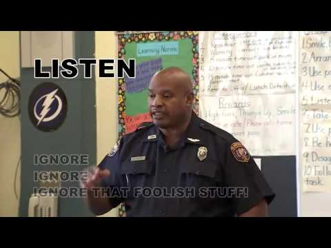 Law enforcement officer rapping (anti-bullying)