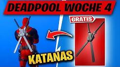 Finde Deadpools KATANAS & füge Gebäuden Schaden zu Challenge Woche 4 | Season 2 Fortnite